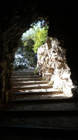 Лестница из темноты в свет, природу