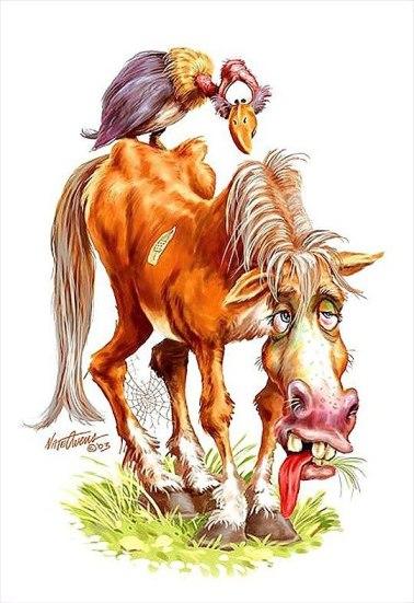 Лошадь уставшая перегруженная изнеможденная, истощенная, гриф на спине