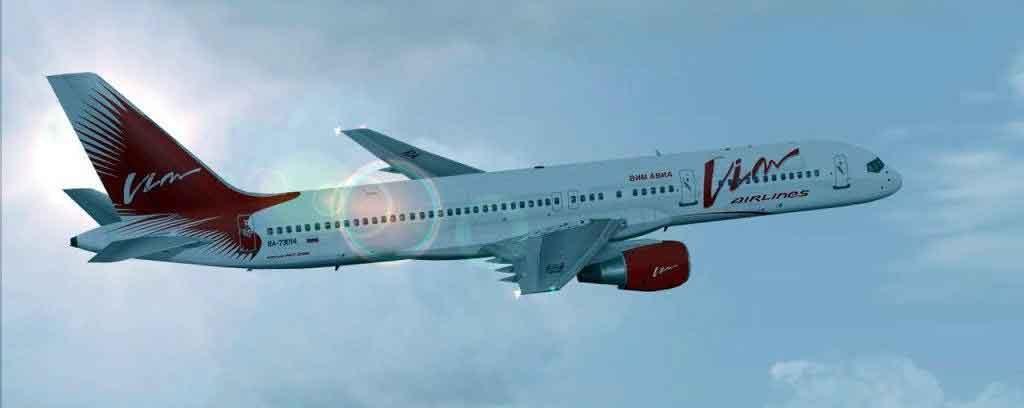 Самолет с надписью Vim Avia