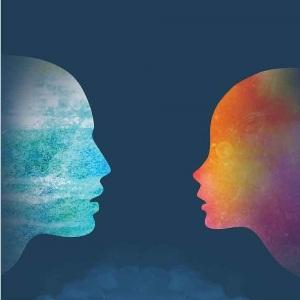 Логотип курса Психология взаимодействия - мужчина и женщина - как вода и огонь
