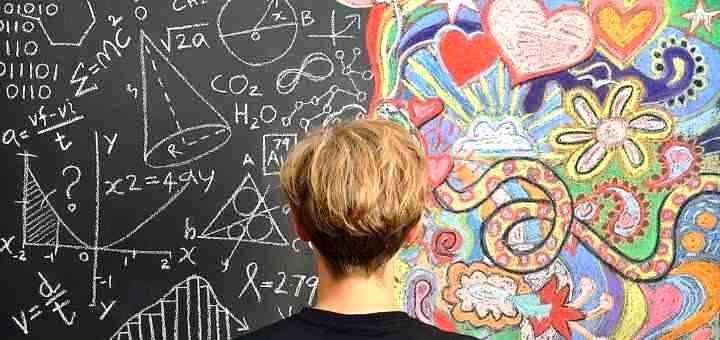 Иллюстрация к работе левого (логического) и правого (творческого) полушарий мозга